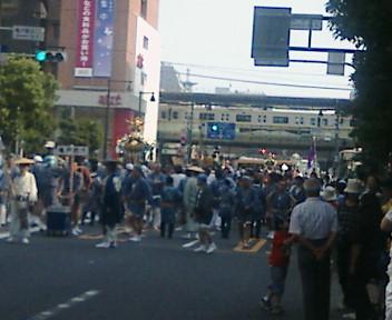 亀戸駅前を通過しました