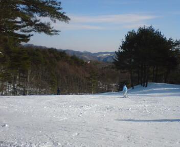 スキー場にいます