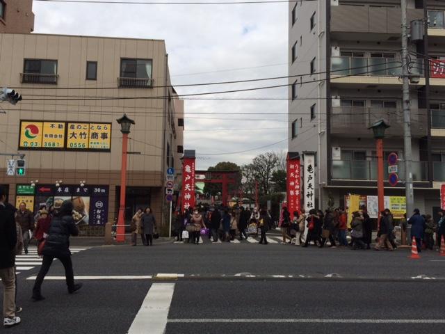 今日は亀戸天神社の鷽替え
